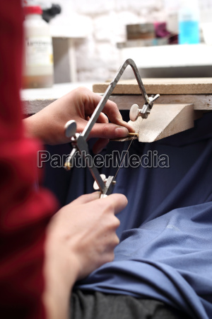 manuelles erstellen schmuck juweliersset werkstatt