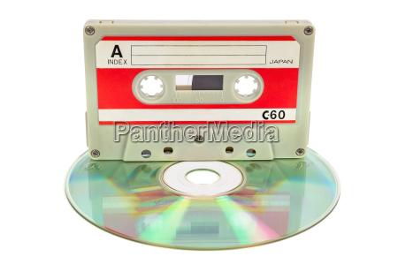 vintage audio tape on cd