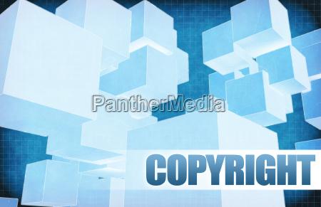 copyright auf futuristische zusammenfassung
