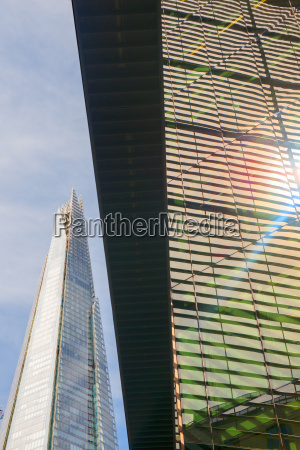 low angle view of the shard