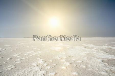 view of lake tuz vast salt