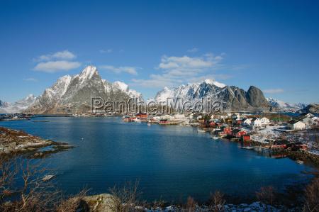 cod fishing village lofoten norway