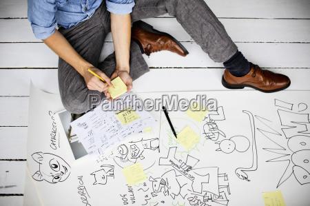 graphic designer producing creative ideas on