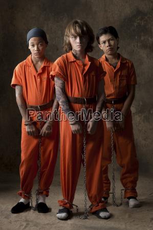 studio portrait of three boys in