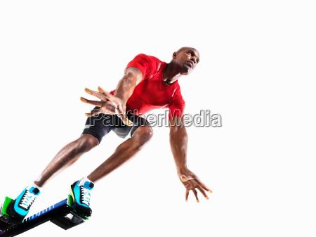 sport konzentration seitenansicht aktion wettbewerb training