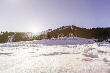 schneebedeckte, landschaft, achenkirch, tirol, Österreich - 19433604