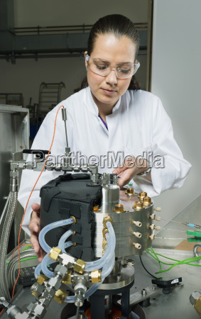 female scientist doing research on a