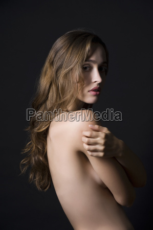 studio portrait of sultry young woman