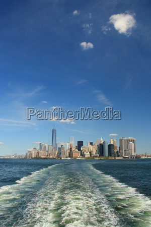 view of lower manhattan skyline and