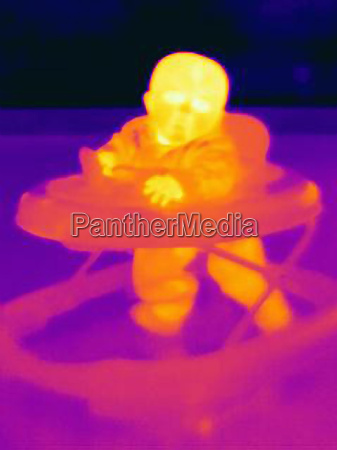 thermal image of six month baby