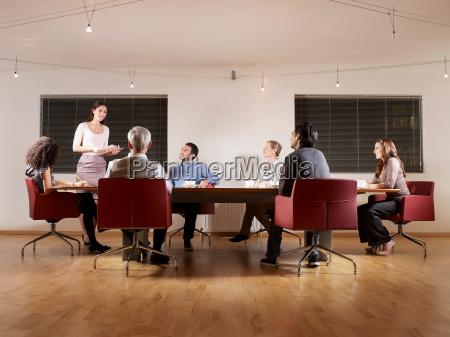 group of people at boardroom meeting
