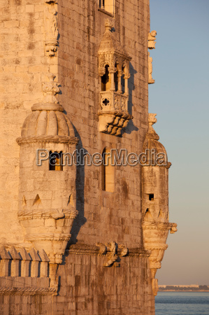 the tower of belem on the