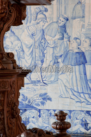 historical azulejos the blue glazed ceramic