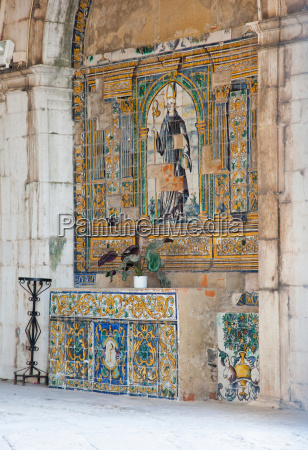 decorative tiles at the santo amaro