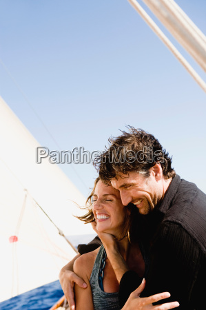 couple embracing each other on a