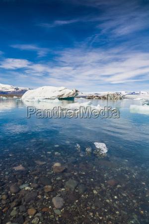 iceberg on still water jokulsarlon iceland