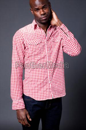 man wearing plaid shirt