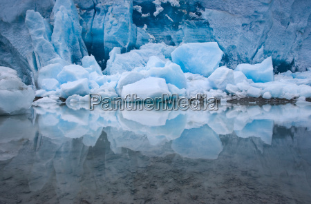 the amazing blue of glacial ice