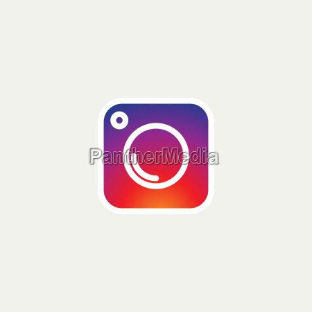 social media icon fotokamera instagram icons