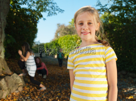 young girl smiling portrait