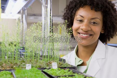 female scientist smiling