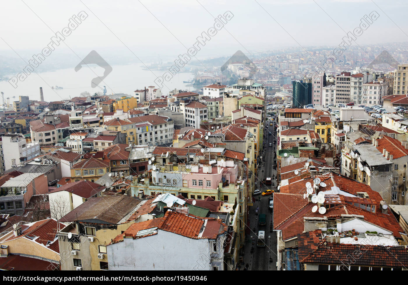 buildings, and, rooftops, , istanbul, , turkey - 19450946