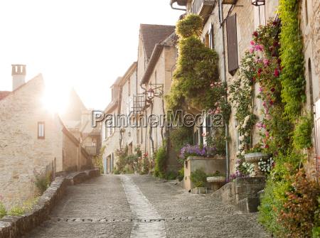 residential street in beynac et cazenac
