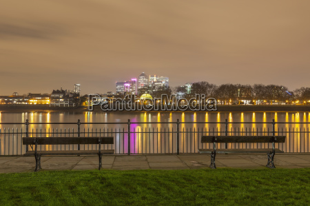 view of canary wharf and the