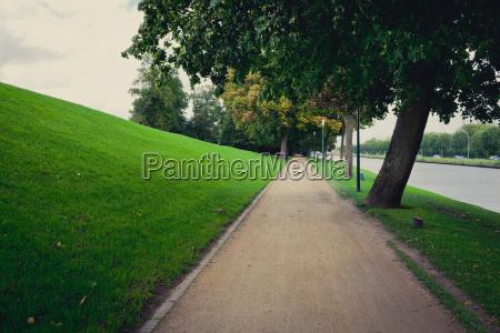 dirt path along rural road