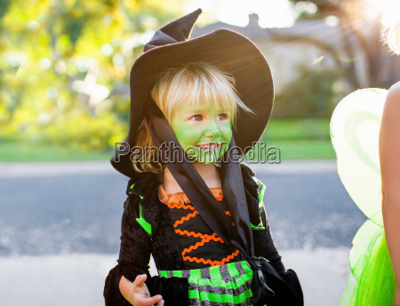 child in witch costume