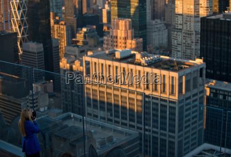 blick, vom, rockefeller, center, manhattan, new, york, city, usa - 19458672