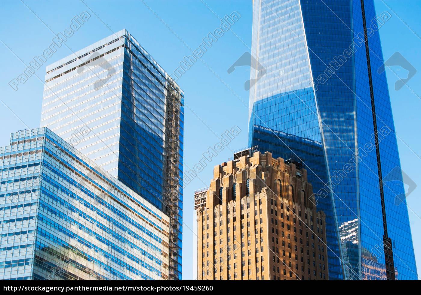 modern, skyscrapers, in, manhattan, , new, york - 19459260