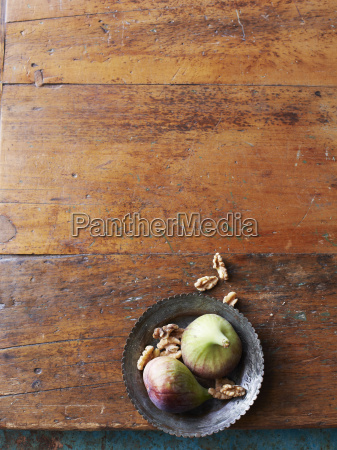 still life of fresh figs and