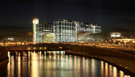 central station and river spree at