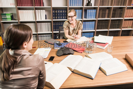 two female lawyers in meeting