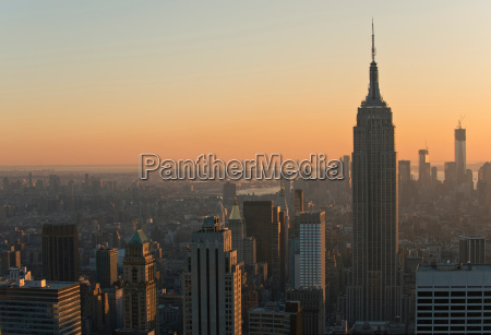 view from rockefeller centre towards empire