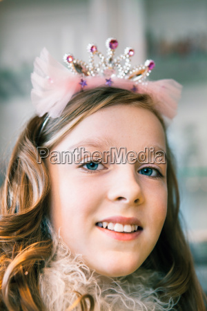 portrait of teenage girl wearing tiara