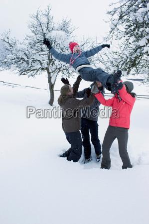 young people having fun in the