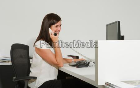 working woman on phone