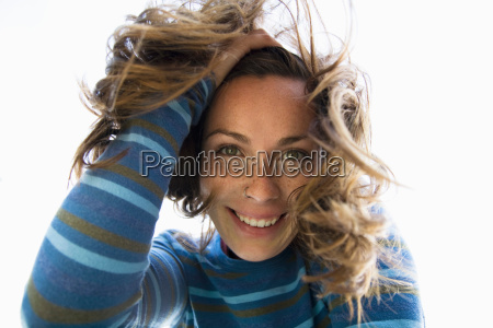 woman smiling into camera