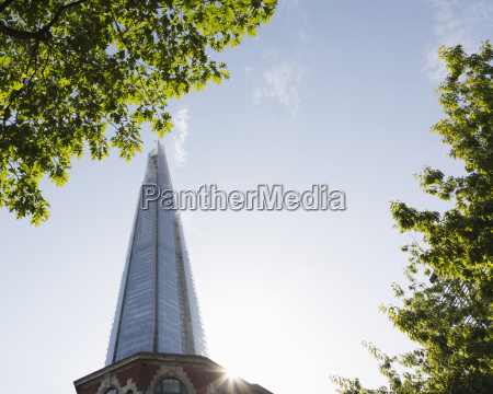 the shard low angle view london