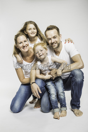 studio portrait of mature couple with
