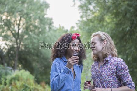 couple at garden party