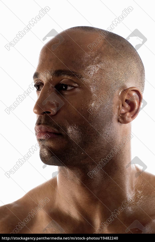close, up, of, man?s, sweaty, face - 19482240