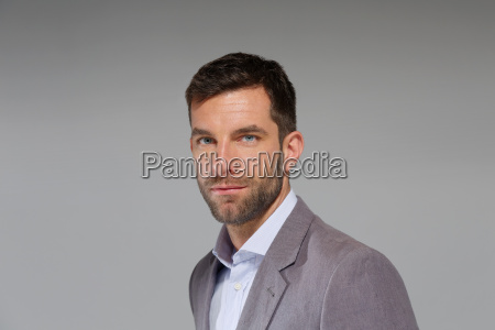 portrait of mid adult businessman