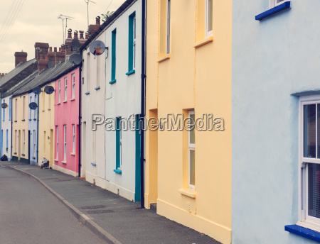 colourful houses in street where dylan