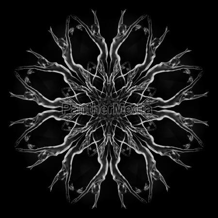 mandala pattern created by multiple exposure