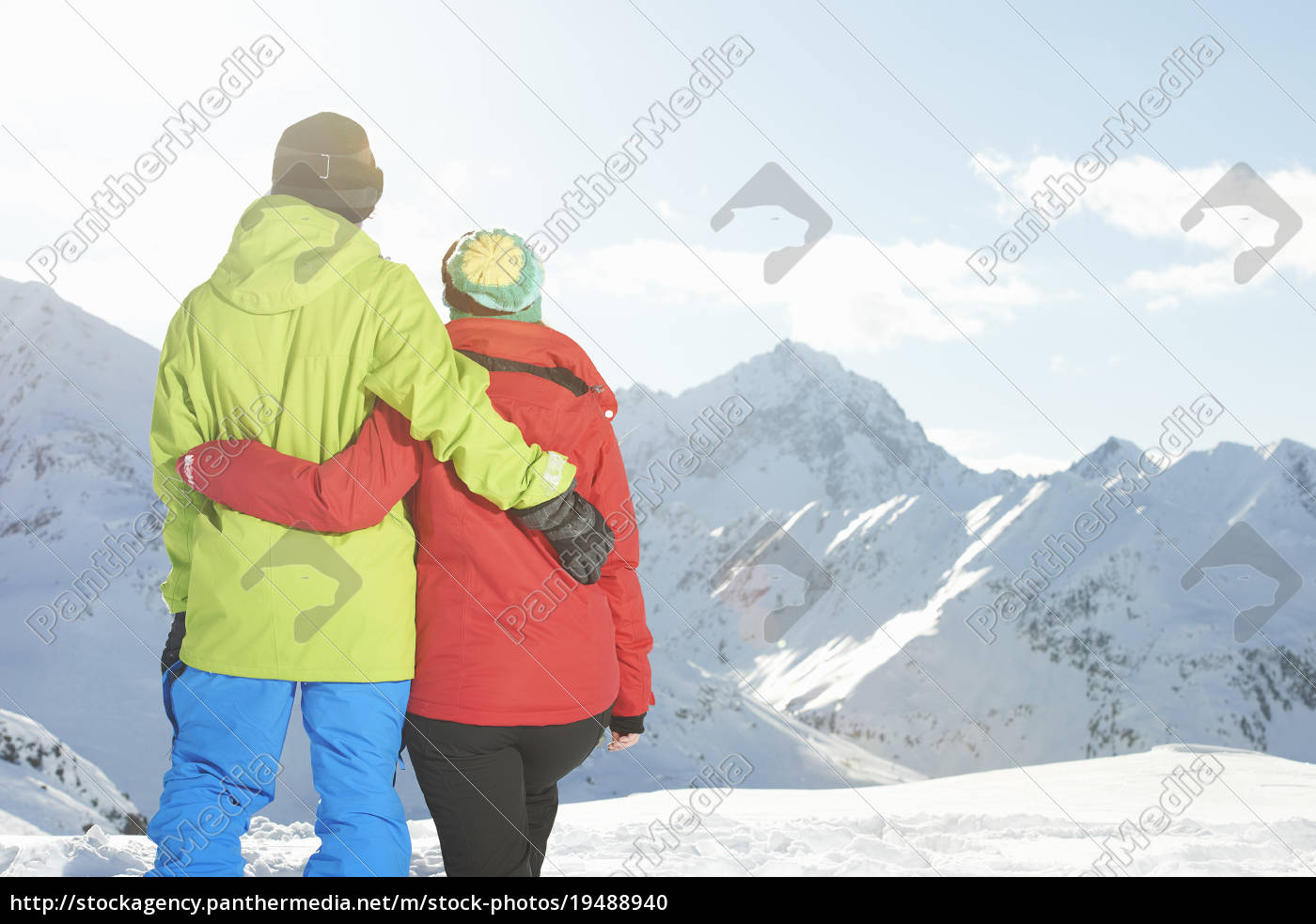 couple, looking, at, mountains, , kuhtai, , austria - 19488940
