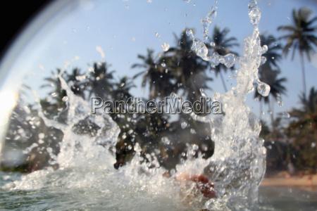 close up of water splashing