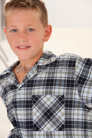 close up of smiling boy in